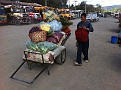 At the Market Place in Antigua, Guatemala.  I helped this guy load his stuff back on after his load shifted and things fell off.