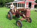 "Ivan on my 1944 Farmall Model ""A"""