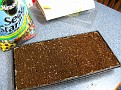 Add Seed Starting Potting Mix to Cells... until full...