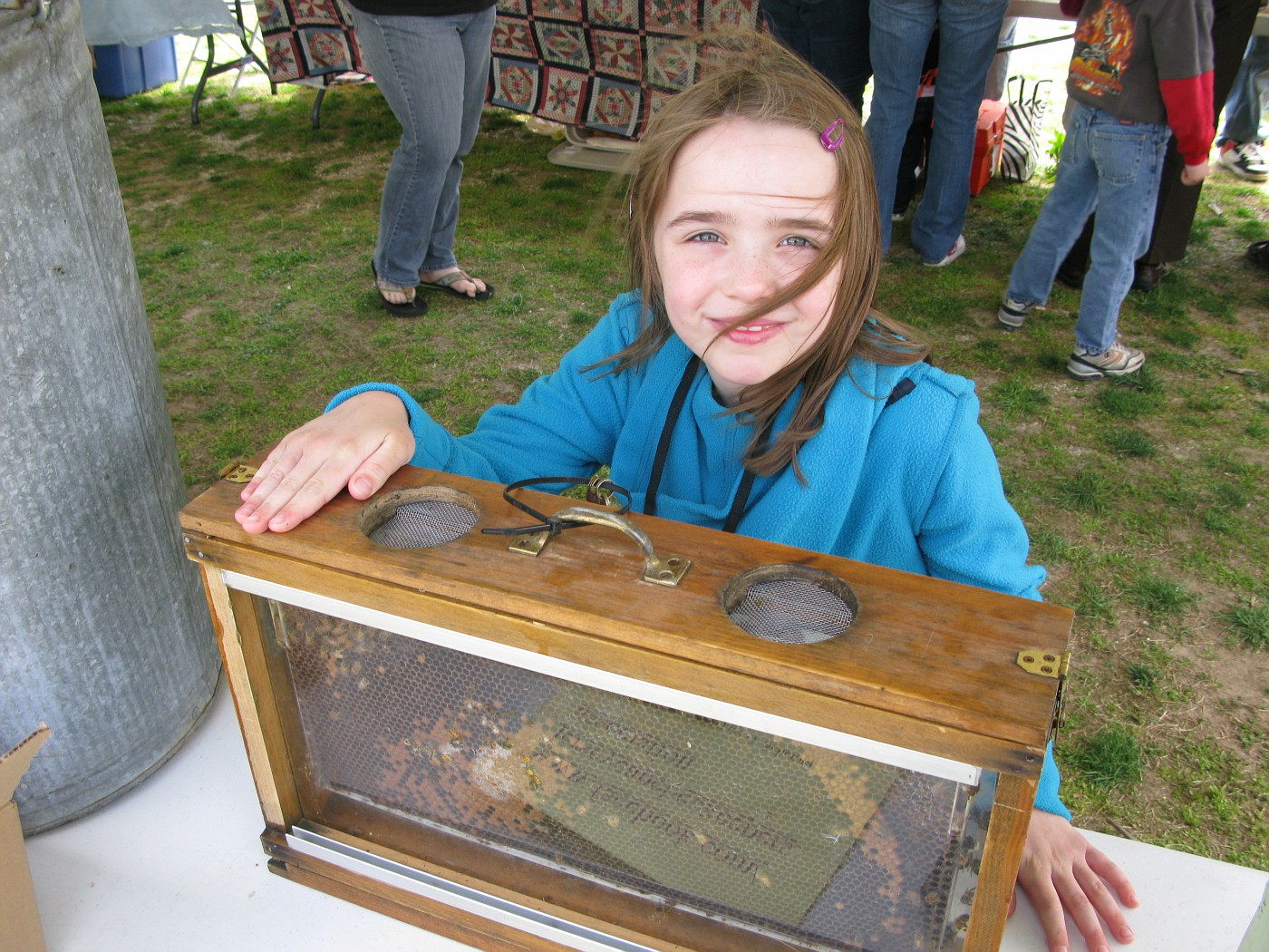 """This young person already knew she wanted to be an """"Entomoligist""""  (one who studies insects)"""