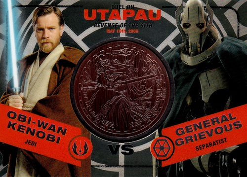 Chrome Perspectives Jedi vs  Sith Bronze Coin Obi-Wan Kenobi vs  General Grievous (1)